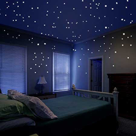 dark media room. Glow In The Dark Star Decals Glowing Reusable Ceiling Décor Of 1447Pcs Dots Plus Moon And Media Room