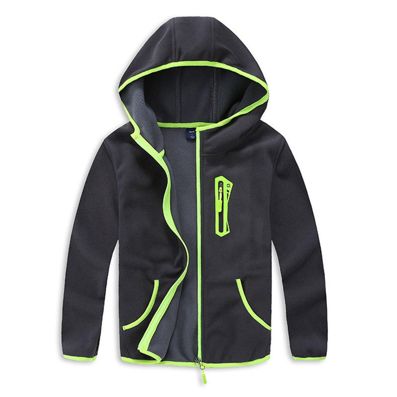 Joseph Papa New Spring and Autumn Trendy Boys Sport Hooded Jacket Kids Polar Fleece Soft Outerwear 3-14T