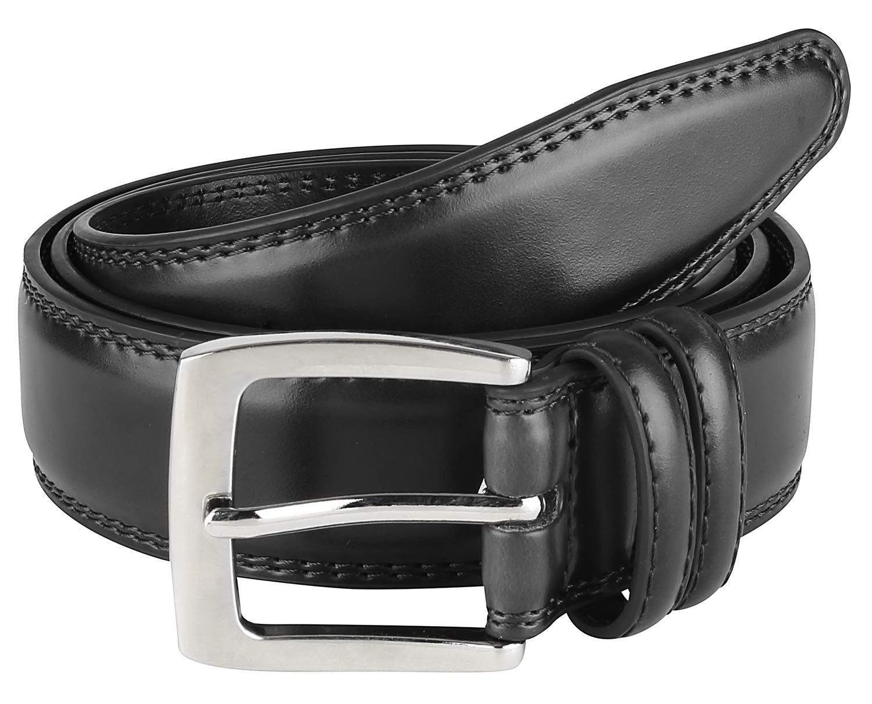 Men's Dress Belt ALL Genuine Leather 35mm Black (Size 38)