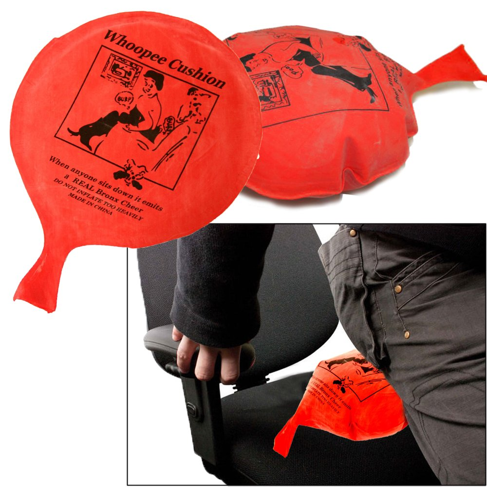 4 pcs Toy Cubby Kids Adult Red Fart Sound Classic Prank Whoopee Cushion