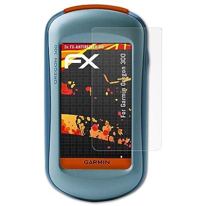 atFoliX Schutzfolie kompatibel mit Garmin Oregon 300 Displayschutzfolie, HD-Entspiegelung FX Folie (3X)