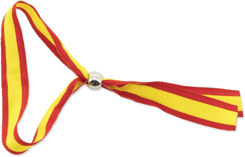GARGOLA.ES OPERADORES DIGITALES Pack DE 25 Pulseras Ajustable con BOLITA DE Metal Bandera de España Muy Buena RELACIÓN Calidad CANTIDAD para REGALAR-34.00 x 1.50 x 0.00 cm: Amazon.es: Joyería