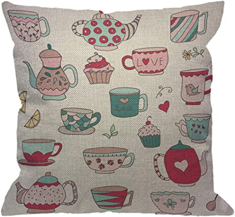 Pillow Case Covers Handmade Pillowcases Pink Teapot Pillow Cases Pillow Case Cotton Pillow Cases Handmade