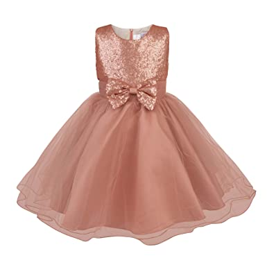 Fairy Princess Rose Gold Gigi Flower Girl Dress Amazon Clothing