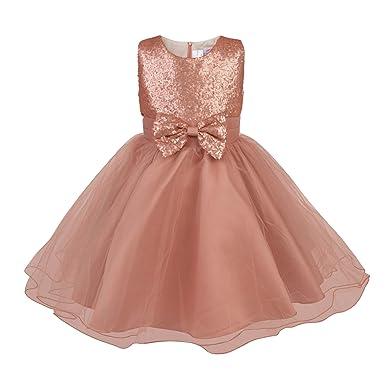 b3a1d4b2d15 Fairy Princess Rose Gold Gigi Flower Girl Dress  Amazon.co.uk  Clothing