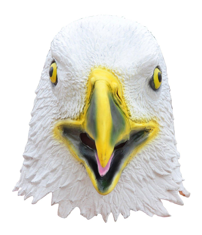 Queenshiny/® latex masque animal Aigle chauve