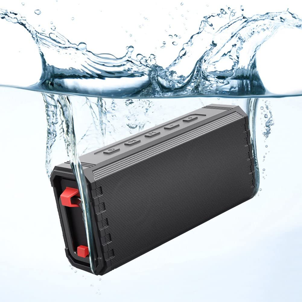 Bluetooth Speaker Portable Fully Waterproof IPX7 16W Hcman Shower Speakers Enhanced Bass Sound Auto Off TF Card Travel 24-Hour Playtime Durable Design for Party Built in Mic
