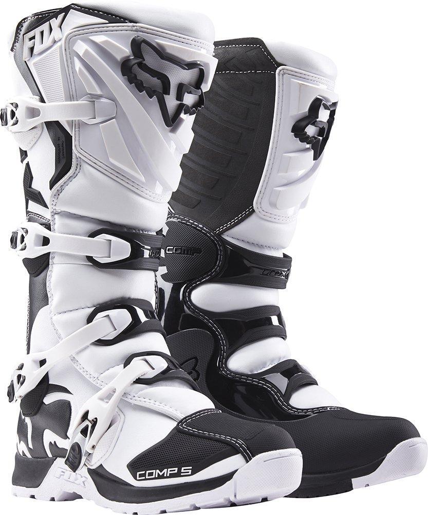 Fox Racing Comp 5 Men's Off-Road Motorcycle Boots - White / Size 9
