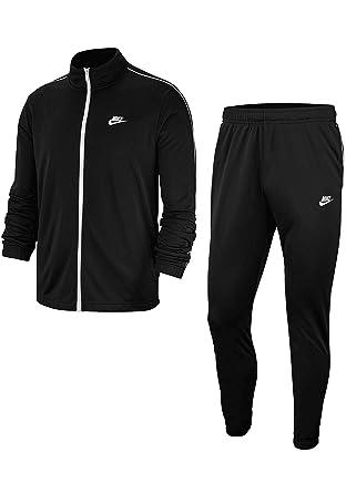 Nike Chándal Tracksuit, Hombre, Color Blanco/Negro, tamaño S ...