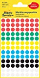 Avery Zweckform 3090 Markierungspunkte (416 Stück, Ø 8 mm) 4 Blatt farbig sortiert