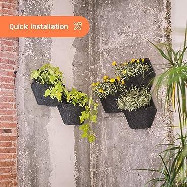Espora Jardín Vertical Módulo Hexagonal con Sistema de autoriego ...