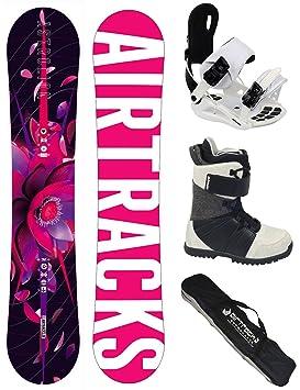 AIRTRACKS Snowboard Set Tabla Astrolion Mujer 145 + Fijaciones Star W + Botas Star W 38 + Sb Bolsa/ Nuevo PZ8S3SiU