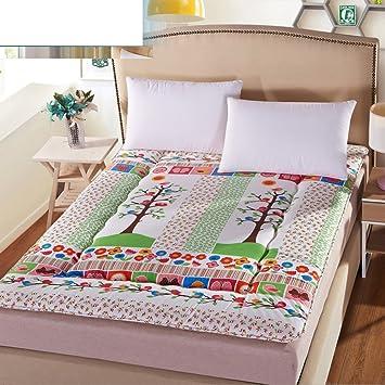 FUIOLWP Colchón/Dormitorio,Individual, colchón Tatami/colchón de Engrosamiento de Esponja/colchón del Estudiante/colchón-O 90x200cm(35x79inch): Amazon.es: ...