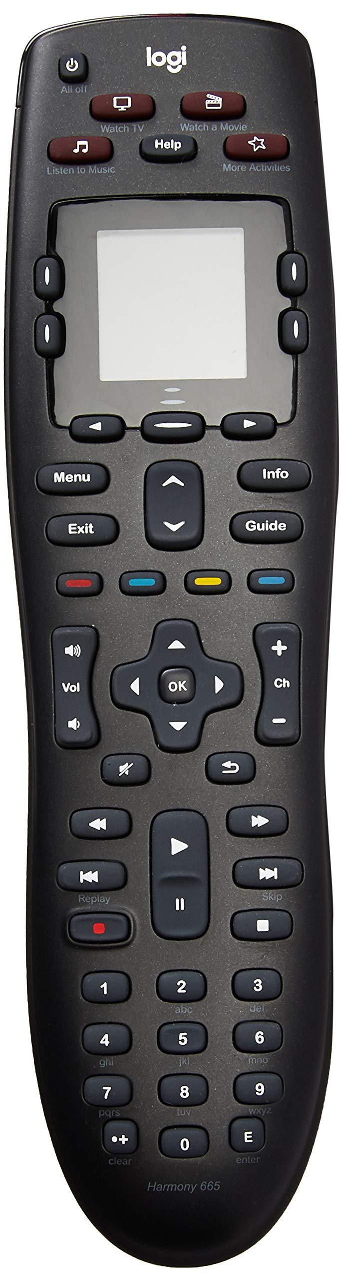 Logitech - Harmony 665 10-Device Universal Remote - Black (Renewed) by Logitech