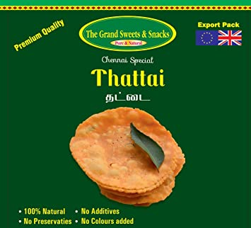 Amazon com : Grand Sweets Thattai 250g : Indian Food : Grocery