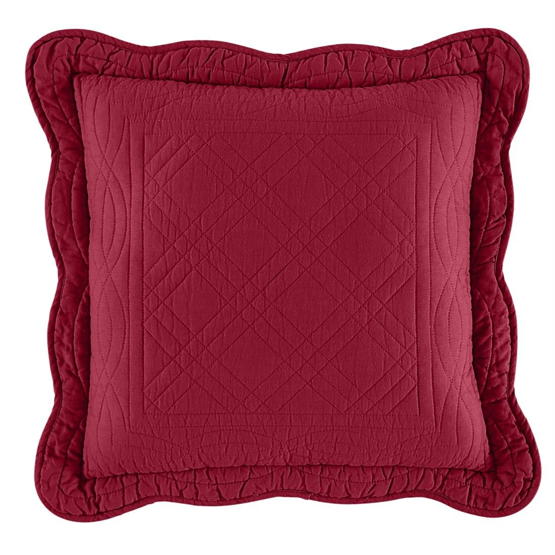 BrylaneHome Florence 16'' Square Pillow (Burgundy,0)