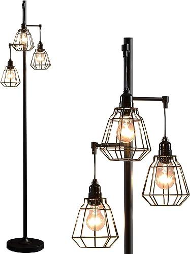 Modern Floor Lamp Black Industrial Tall Standing Floor Lighting