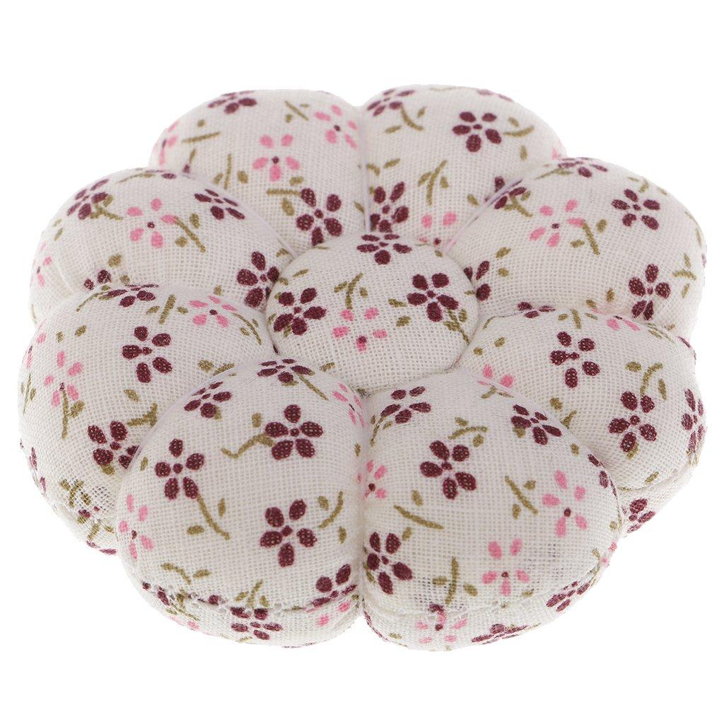 Baoblaze Fabric Coated Pumpkin Shaped Pin Cushion Needles Holder for Needlework DIY Sewing Craft