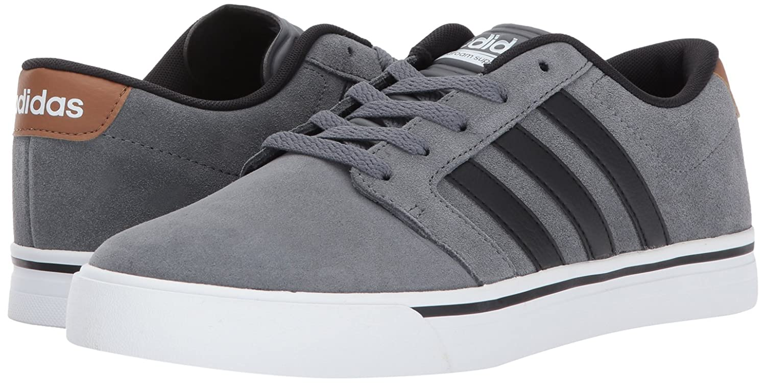 Amazon.com | adidas NEO Men's CF Super Skate Sneaker, Grey  Four/Black/Timber, 10 M US | Skateboarding