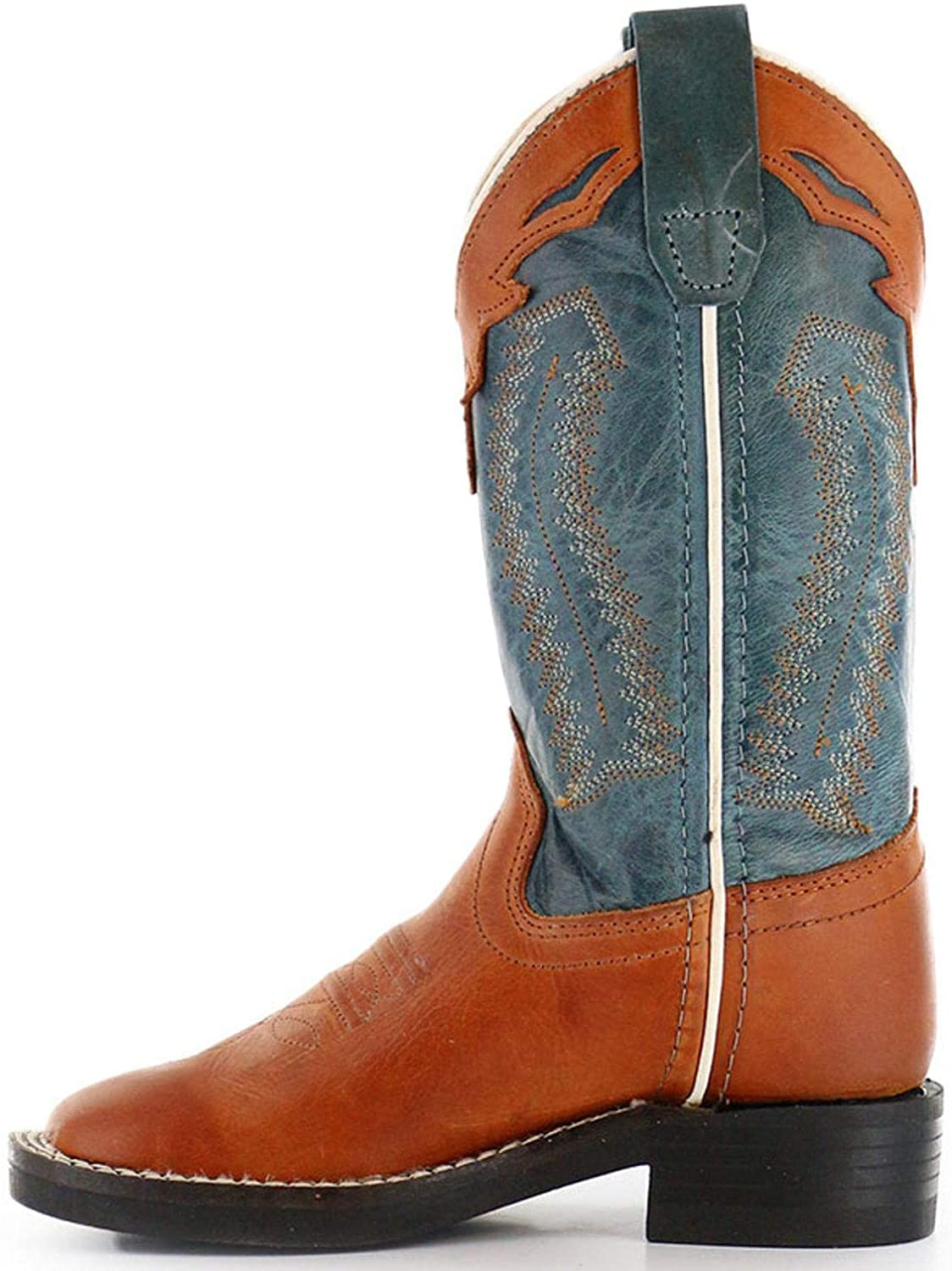 Cody James Boys Orange Western Boot Square Toe Cognac