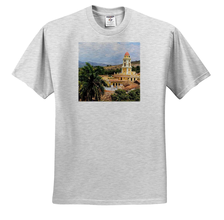 Trinidad Cuba Cuba.Church and Buildings of Tile Roofs - Adult T-Shirt XL ts/_312982 3dRose Danita Delimont