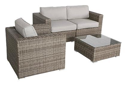Amazon Com Living Source International Wicker Patio Furniture Sofa