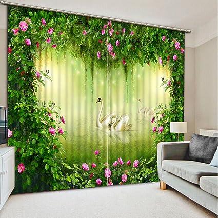 Amazon Com Wapel 3d Blackout Curtains Refined 3d Curtains Artistic
