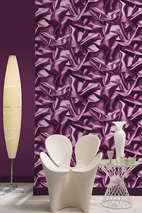 muriva silk purple wallpaper amazon co uk kitchen home