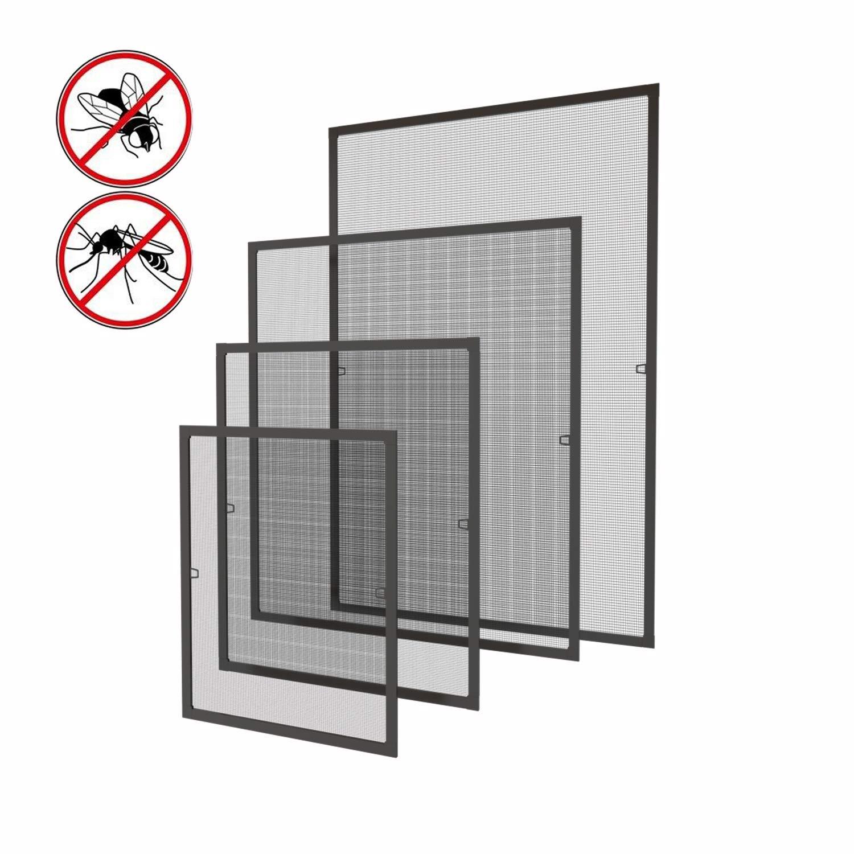 Fliegengitter Fenster 120 Fliegengitter Fliegenschutz Insektenschutz mit f/ür Fenster mit Aluminium Rahmen Fliegenschutzgitter 100