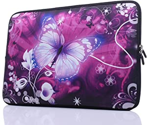 "11.6-Inch to 12-Inch Neoprene Laptop Sleeve Case Bag with Hidden Handles for 11"", 11.6"", 12"", 12.5"" Women MacBook/Tablet/Notebook/Ultrabook/Chromebook (Pink)"