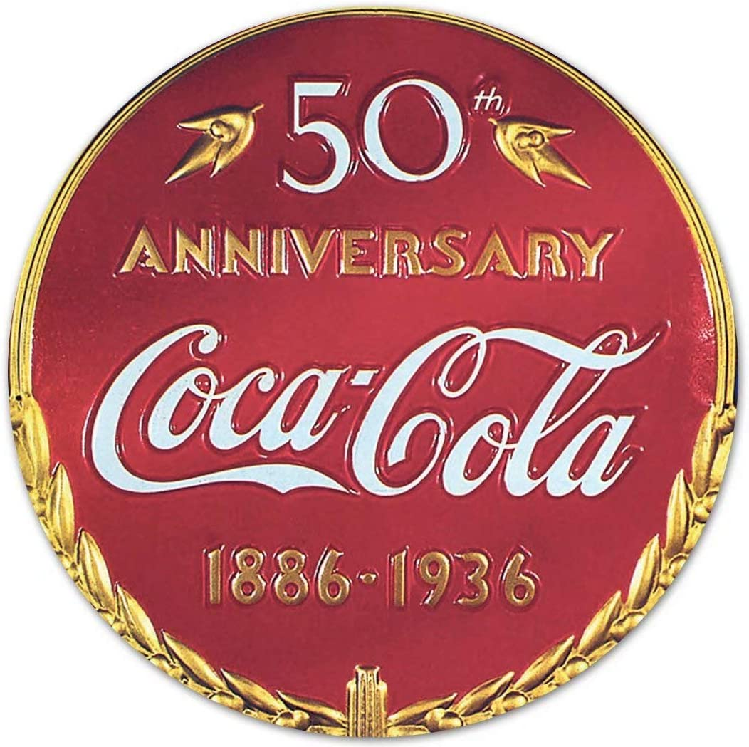 Round Coca-Cola Metal Sign Drink Kitchen Restaurant Cafe Garage Decoration 12