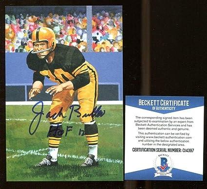 Jack Butler Signed Goal Line Art GLAC Autographed w HOF Steelers BAS C14397  - Beckett cfc5c2077