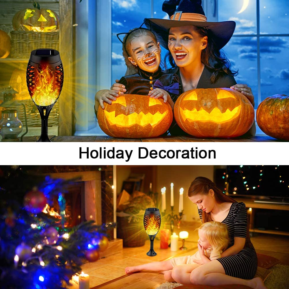 Solar Tiki Torches with Flickering Flame for Halloween/&Christmas Staaricc 10Pack-12LED Solar Lights Outdoor Waterproof Festive Decoration/&Romantic Landscape Lights for Garden Pathway-Auto On//Off