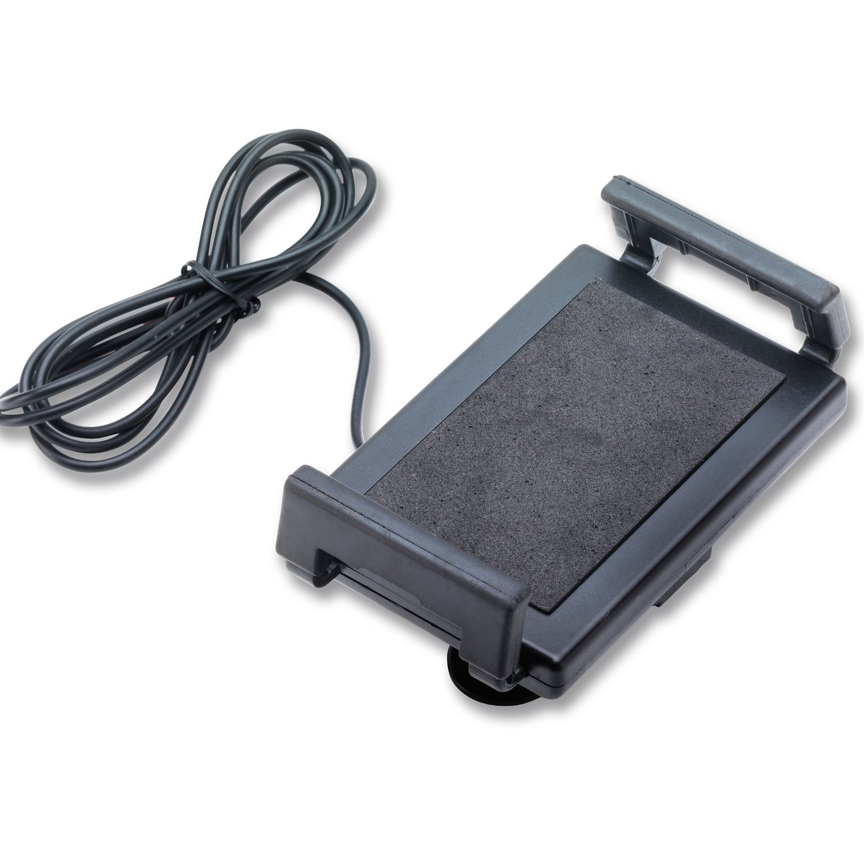 Moto Guidon Support pour téléphone portable avec prise USB smartphone Marine GPS Noir Germany Motorsports
