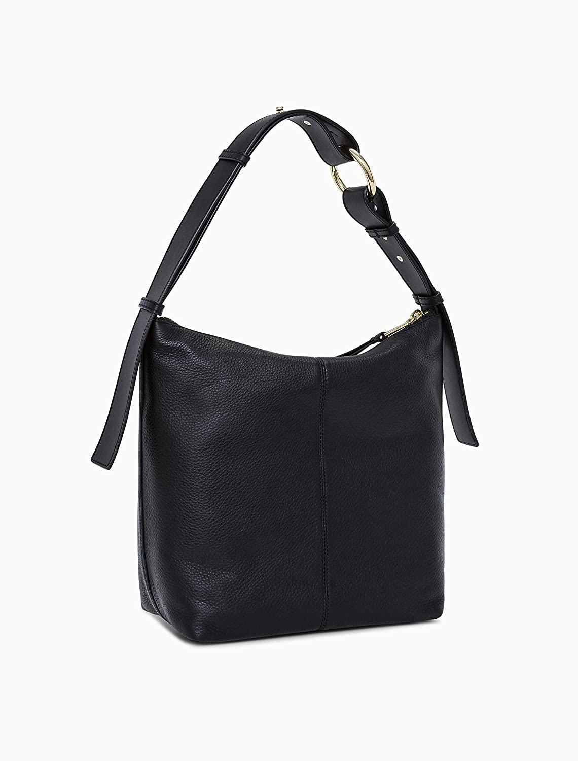 74236826547 Amazon.com: Calvin Klein womens Calvin Klein Liana Pebble Leather Belted  Top Zip Slouchy Hobo, black/gold, One Size: Clothing