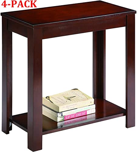 Pierce Chairside Table, Espresso Espresso, 4-Pack