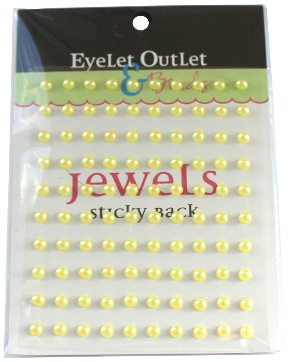 Eyelet Outlet EOB5-YEL Bling Self-Adhesive Pearls 5mm 100//Pkg-Yellow