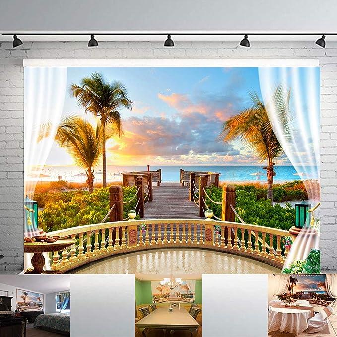 8x8FT Vinyl Photography Backdrop,Compass,Sea Color Marine Design Photoshoot Props Photo Background Studio Prop