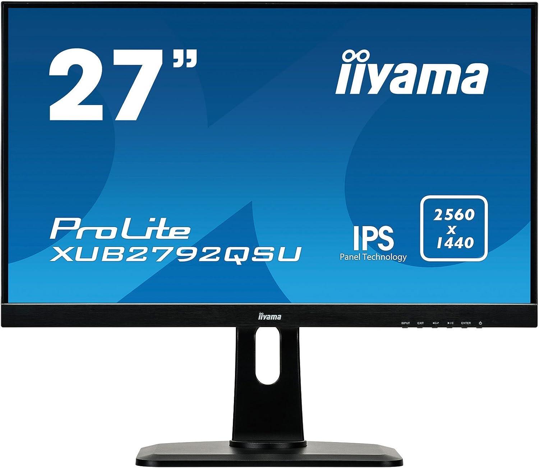 Iiyama Xub2792qsu B1 27 Ips Led 2560x1440 Black Desktop Computer Zubehör