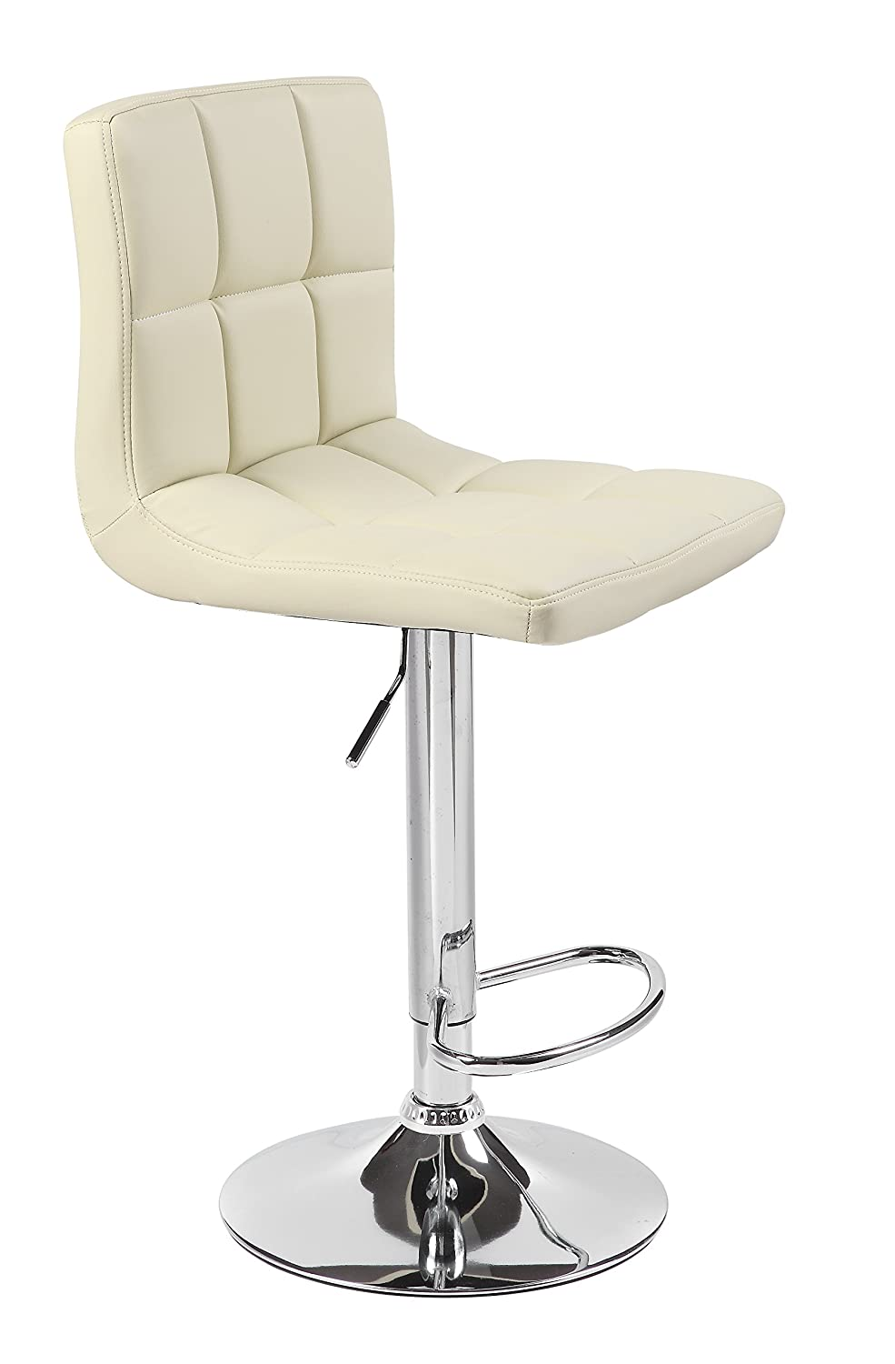 HNNHOME Cuban Faux Leather Breakfast Kitchen Bar Stools (Cream)