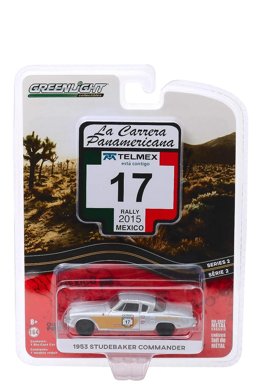 Rally Mexico 2015 1953 Studebaker Commander #17Goodyear La Carrera Panamericana Series 2 1//64 Diecast Model Car by Greenlight 13260 A