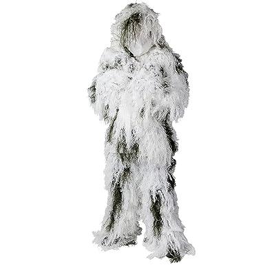 3b758d45bcc06 Amazon.com: Helikon-Tex Camouflage Ghillie Suit Snow Camo size XL ...