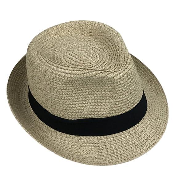 Leisial Sombrero de Jazz Playa Gorra Sombrero de Sol Protector Solar Gorro de Visera Sombrero de Verano Para Hombre VYhrcktj