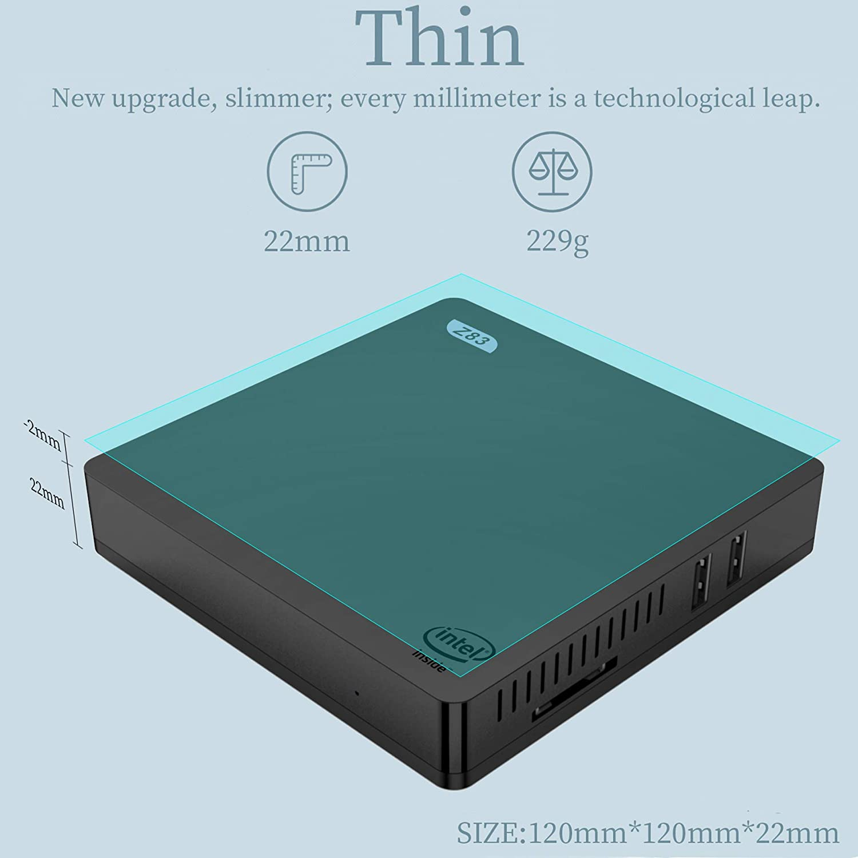 Mini Computer 8GB//256GB SSD Intel Apollo Lake J3455 Processor Beelink J34 Windows 10 Supports Auto Power On//2.5 HDD /& SSD//4K//Dual HDMI//Dual WiFi//Gigabit Ethernet//Fan 64-bit Mini PC