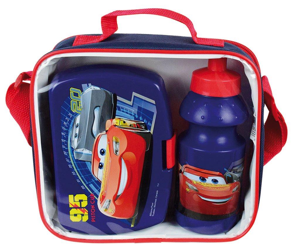Unbekannt Fun House 005475/Cars Fr/ühst/ückstasche mit Trinkflasche und Brotdose