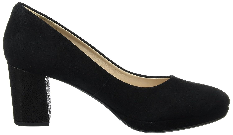 Clarks Kelda Hope - Black Suede Womens Shoes