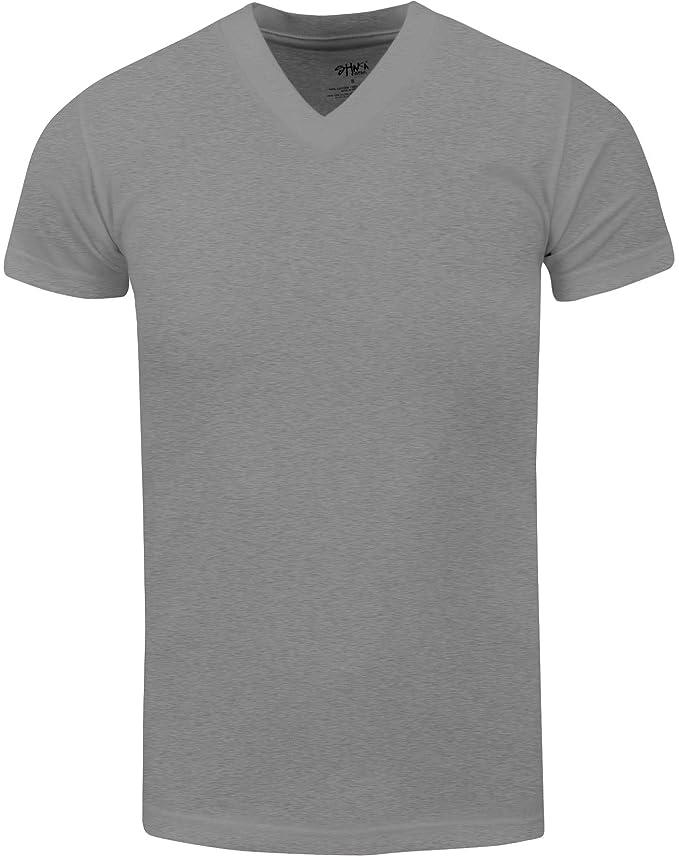 Shaka Wear Active Mens Premium Cotton Heavy Weight V Neck Basic T Shirt XS~7XL