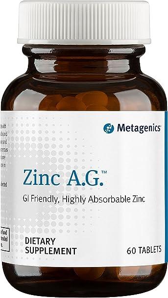 Amazon Com Metagenics Zinc A G 60 Tablets Health Personal Care