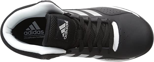 Adidas Performance Cloud Foam Ilation Mid Basketball Shoe, BlackMetallic SilverWhite, 6.5 MU