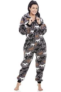 Platinum Ladies Happy Horse Hooded Fleece Onesie - Lilac  Amazon.co ... 7e50c38ac